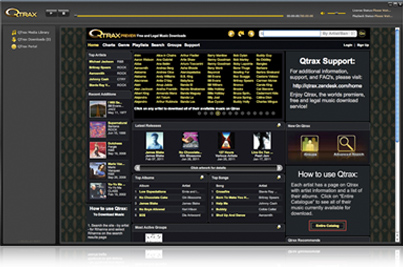 QTrax Free And Legal Music Downloads